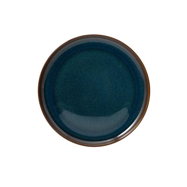 Crafted Denim Frühstücksteller, blau, 21 cm, , large