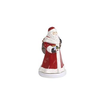 Nostalgic Melody Santa drehend, rot, 8 x 8 x 15 cm