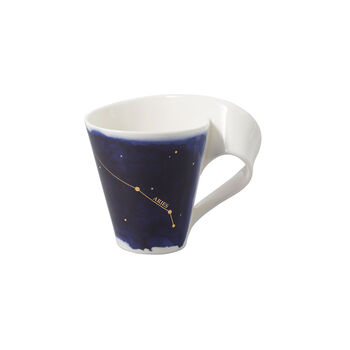 NewWave Stars Becher Widder, 300 ml, Blau/Weiß