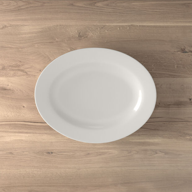 Twist White Platte oval 34cm, , large