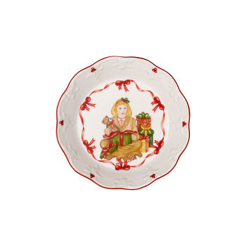 Toy's Fantasy kleine Schale Geschenke auspacken, rot/bunt, 16,5 x 16,5 x 3 cm