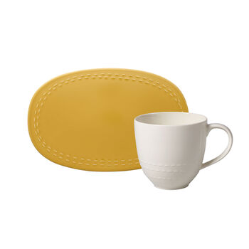like.by Villeroy & Boch it's my moment Set, 2-teilig, für 1 Person, honey