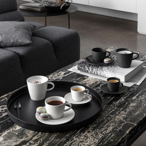 Manufacture Rock Espresso-Untertasse, schwarz/grau, 12 x 12 x 2 cm, , large