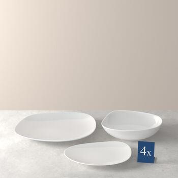 Organic White Teller Starter-Set, weiß, 12-teilig