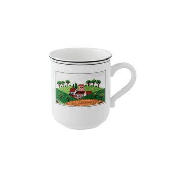 Design Naif Kaffeebecher mit Henkel Dörfchen