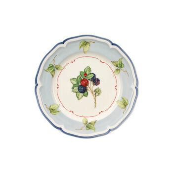 Cottage Frühstücksteller Blauer Fond