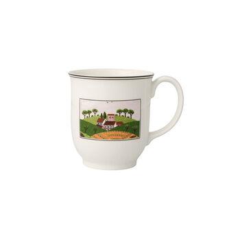 Charm & Breakfast Design Naif Kaffeebecher mit Henkel