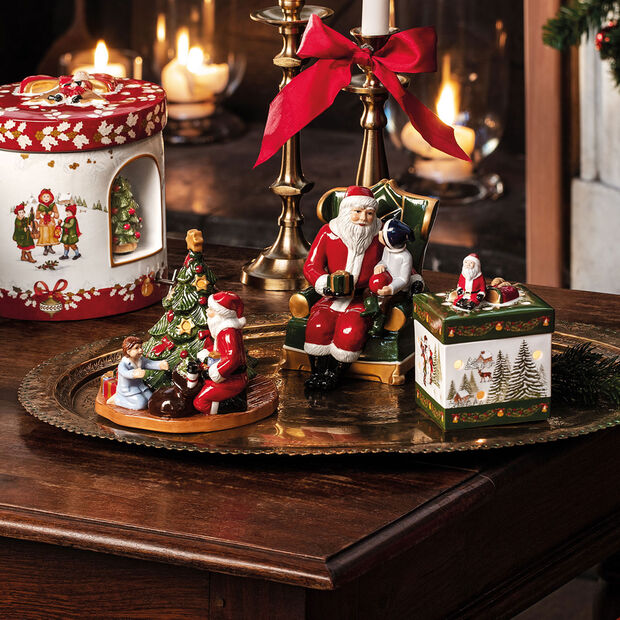 Christmas Toy's Santa auf Sessel, bunt, 10 x 10 x 15 cm, , large