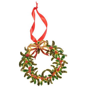 Winter Collage Accessoires Metallhänger Weihnachtskranz, bunt, 12 cm