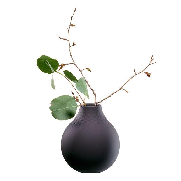 Manufacture Collier noir Vase Perle klein 11x11x12cm, , large