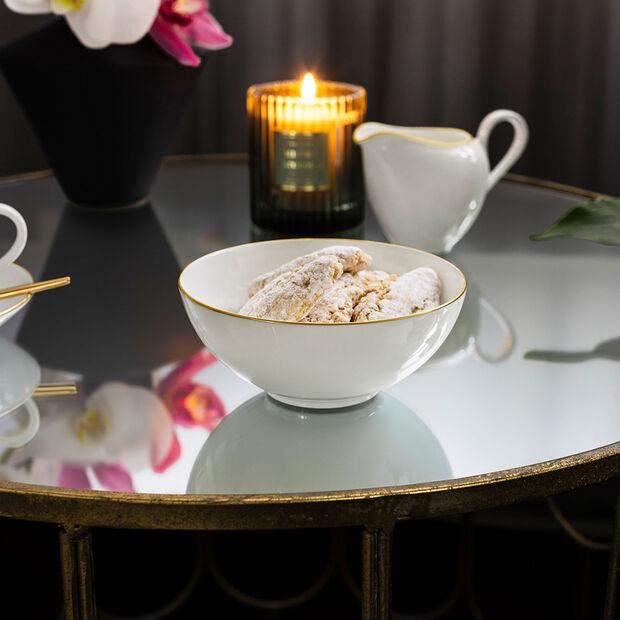 Anmut Gold Dessertschale, Durchmesser 13 cm, Weiß/Gold, , large