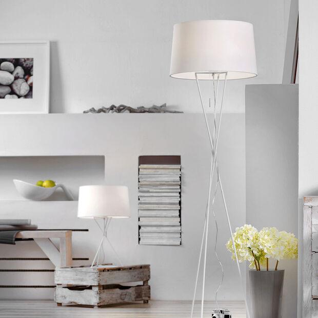 Leuchten Tischleuchte New York, weiß 550mm, , large
