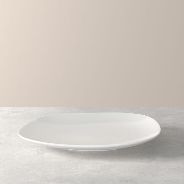 Organic White Speiseteller 28 x 24 x 3cm, , large