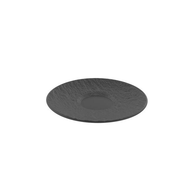 Manufacture Rock Untertasse, schwarz/grau, 15,5 x 15,5 x 2 cm, , large