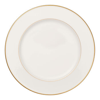 Anmut Gold runde Platte, Durchmesser 32 cm, Weiß/Gold
