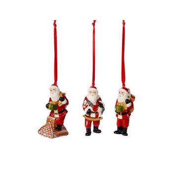 Nostalgic Ornaments Ornamente-Set Santa Claus, bunt, 3-teilig, 9 cm