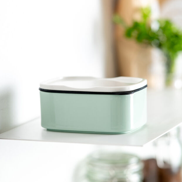 ToGo&ToStay Lunchbox, 13x10x6cm, eckig, mintgrün, , large
