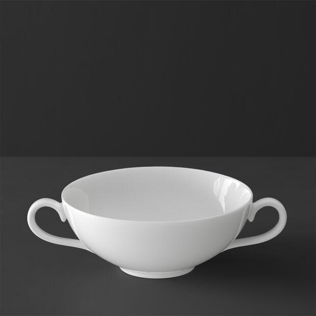 White Pearl Suppenobertasse, , large