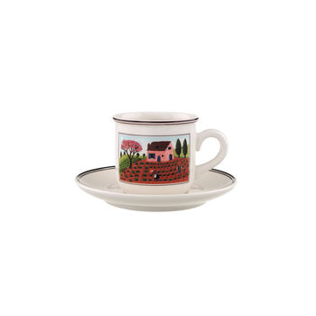 Design Naif Kaffeetasse mit Untertasse 2tlg.