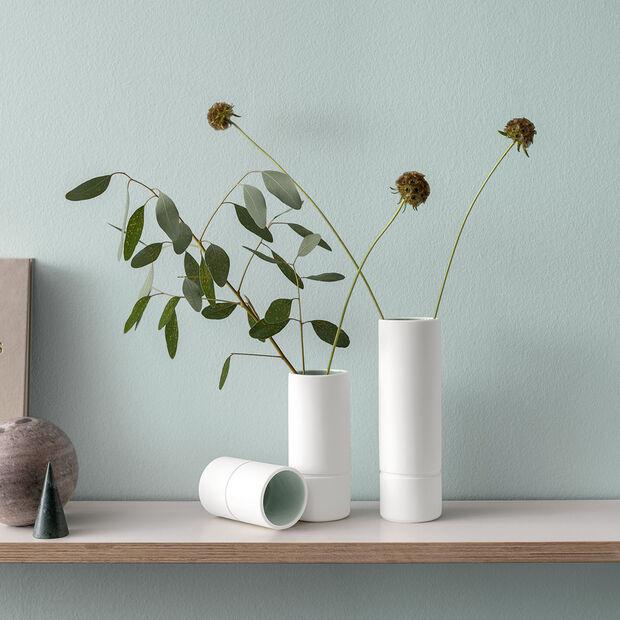 it's my home kleine Vase, 6x10 cm, Grün/Weiß, , large