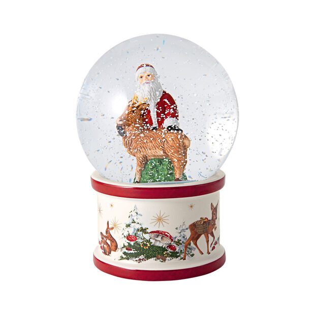 Christmas Toys große Schneekugel Santa und Hirsch, 13 x 13 x 17 cm, , large