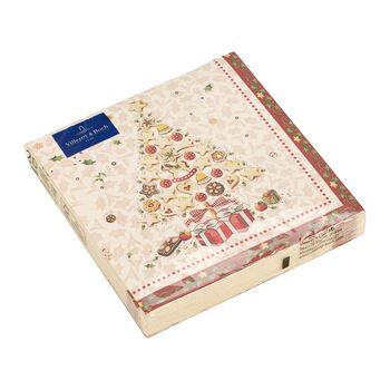 Winter Specials Bakery Lunch-Serviette Weihnachtsbaum, weiß/bunt, 20 Stück, 33 x 33 cm