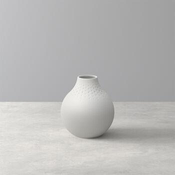 Manufacture Collier blanc Vase Perle klein 11x11x12cm