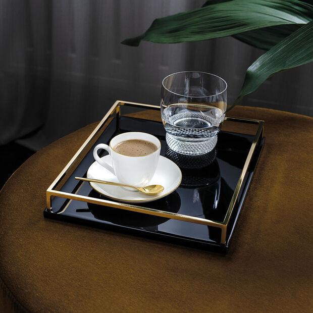 Anmut Gold Mokka- und Espresso-Untertasse, Durchmesser 12 cm, Weiß/Gold, , large
