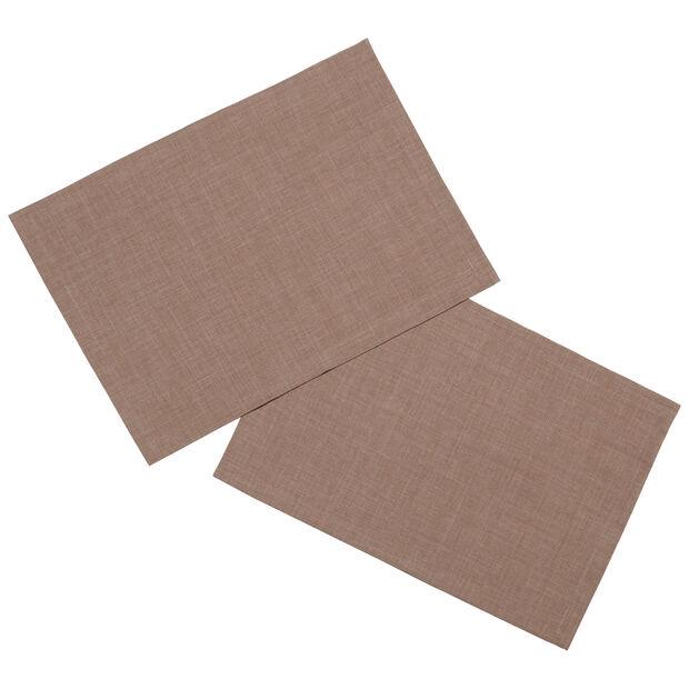 Textil Uni TREND Platzset taupe S2 35x50cm, , large