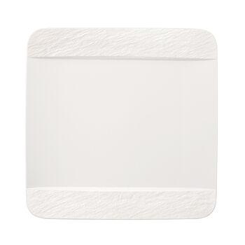 Manufacture Rock Blanc quadratischer Speiseteller, weiß, 28 x 28 x 2 cm