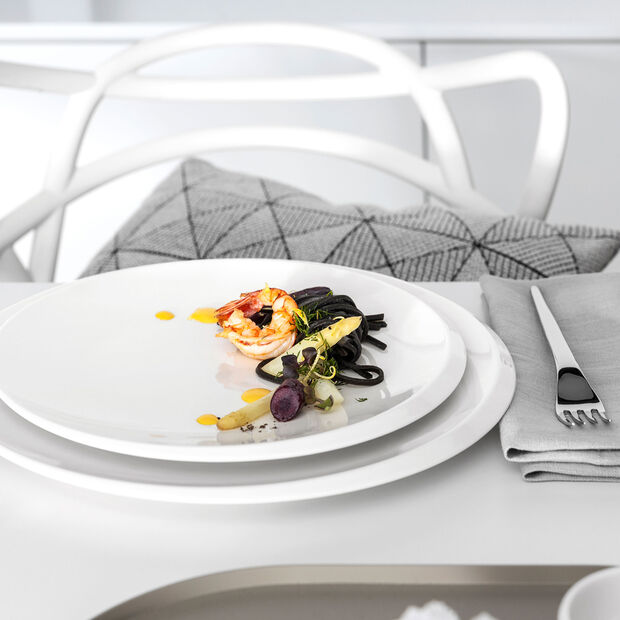 NewMoon Gourmetteller, 32 cm, Weiß, , large