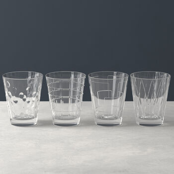 Dressed Up Wasserglas-Set Clear 4-teilig