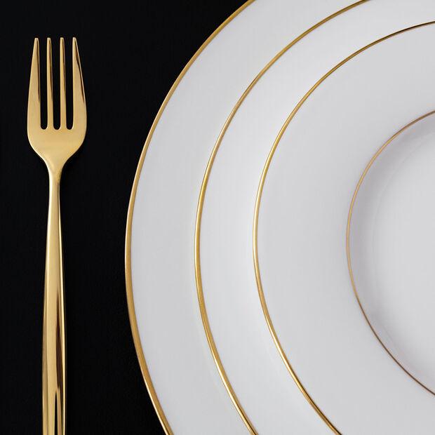 Anmut Gold Speiseteller, Durchmesser 27 cm, Weiß/Gold, , large
