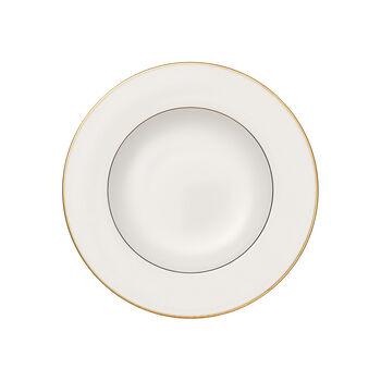 Anmut Gold Suppenteller, Durchmesser 24 cm, Weiß/Gold