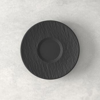 Manufacture Rock Untertasse, schwarz/grau, 15,5 x 15,5 x 2 cm