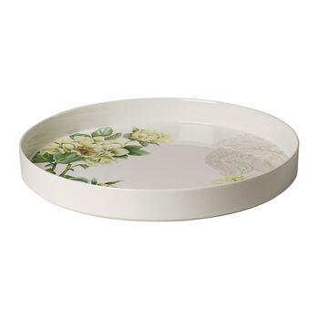 Quinsai Garden Servier- und Dekoschale, Durchmesser 33 cm, Tiefe 4 cm, Weiß/Bunt
