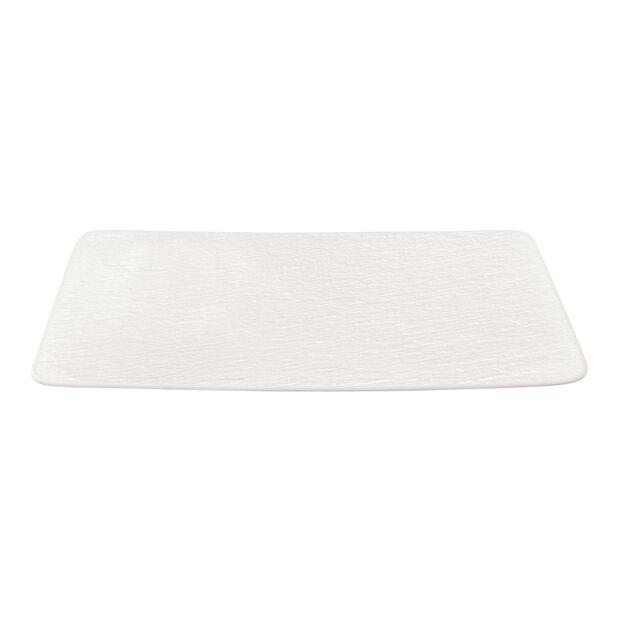 Manufacture Rock Blanc rechteckiger Multifunktionsteller, weiß, 28 x 17 x 1 cm, , large