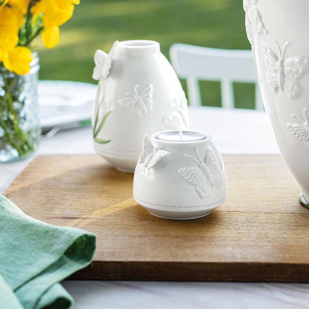 Colourful Spring Teelichthalter, weiß/grün, , large