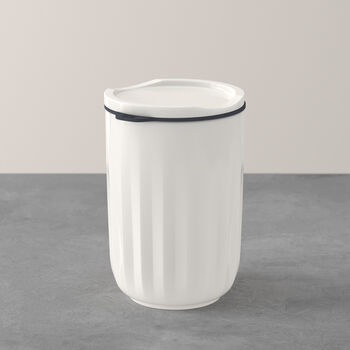 ToGo&ToStay Becher, mit Deckel, 450ml, weiß