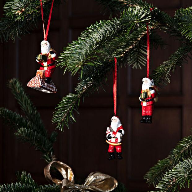 Nostalgic Ornaments Ornamente-Set Santa Claus, bunt, 3-teilig, 9 cm, , large
