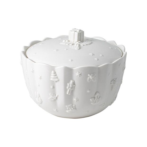 Toy's Delight Royal Classic biscuit jar, white, 20 x 15 cm, , large