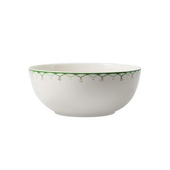 Colourful Spring kleine Salatschüssel, 2,5 l, weiß/grün