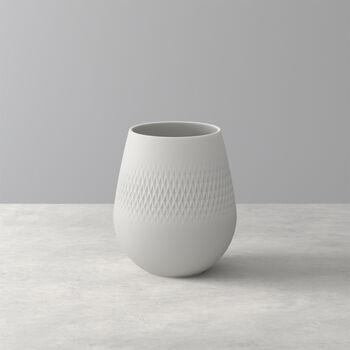 Manufacture Collier blanc Vase Carré klein 12,5x12,5x14cm