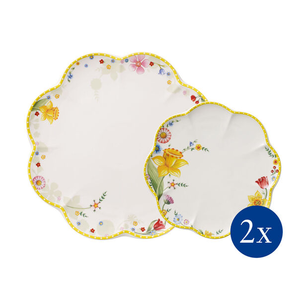 Spring Awakening Teller-Set, Blumen, 4-teilig, für 2 Personen, , large