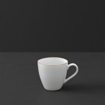 Anmut Gold Mokka- und Espressotasse, 100 ml, Weiß/Gold