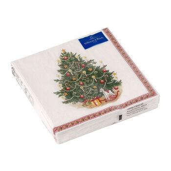 Winter Specials Lunch-Serviette Tannenbaum, grün/bunt, 20 Stück, 33 x 33 cm