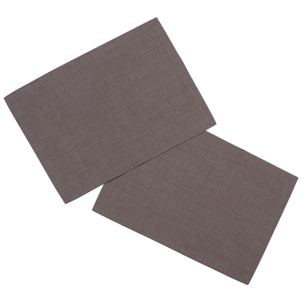 Textil Uni TREND Platzset, 2 Stück, grafit, 35x50cm, , large