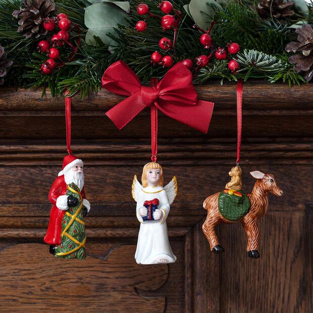 Nostalgic Ornaments Ornamente-Set Santa/Christkind/Reh, 8 x 4 cm, 3-teilig, , large