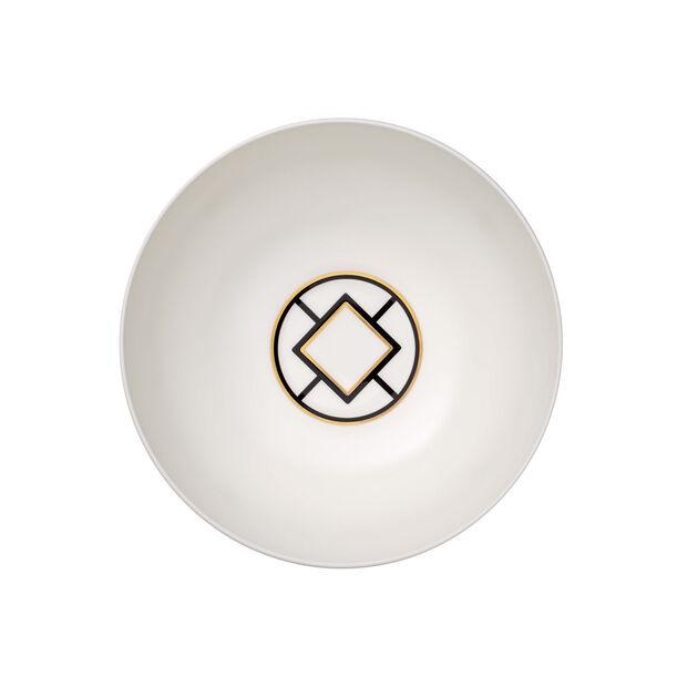 MetroChic runde Schüssel, Durchmesser 23 cm, Weiß-Schwarz-Gold, , large