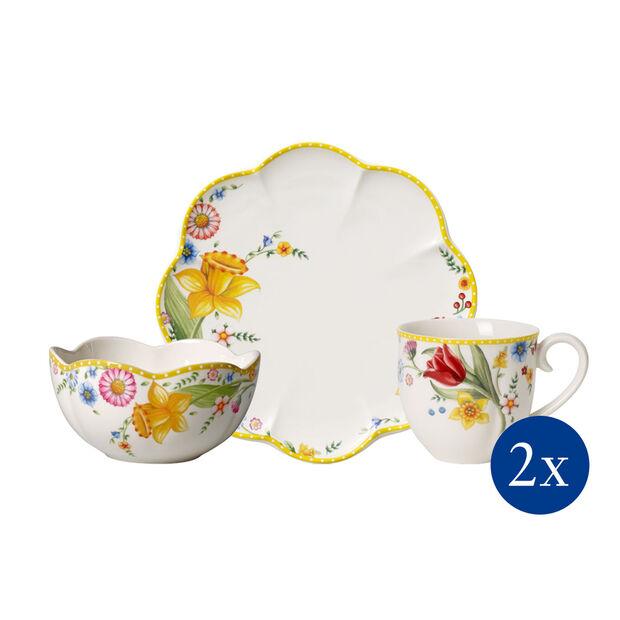 Spring Awakening Frühstücks-Set, Blumen, 6-teilig, für 2 Personen, , large